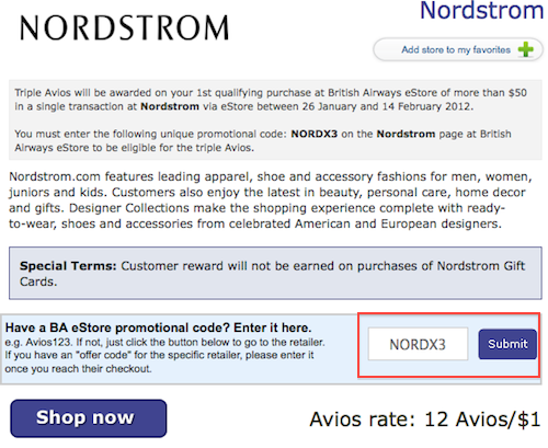 Nordstrom discount coupon