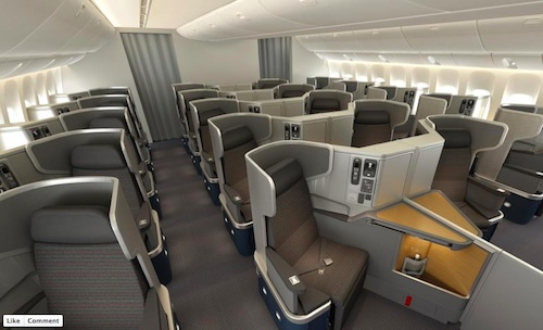 American once again selling business class seats on inaugural boeing 777 300er flight from - Delta airlines hong kong office ...