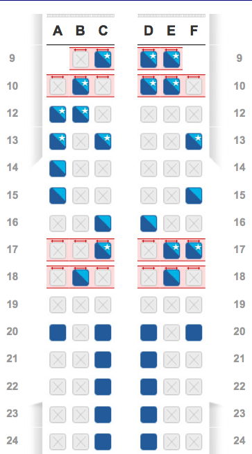 American Airlines Seatmaps Now Reflecting Main Cabin Extra