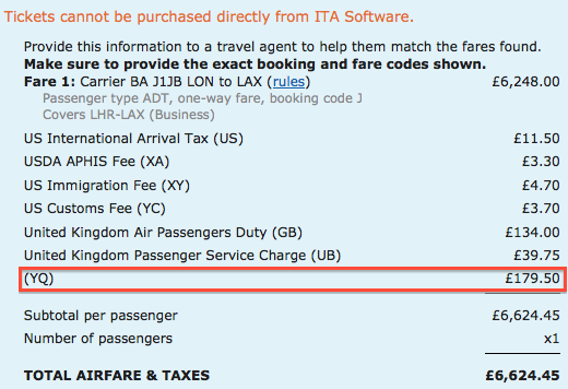 Are Award Ticket Taxes And Fuel Surcharges Negotiable One Mile - What is fuel surcharge