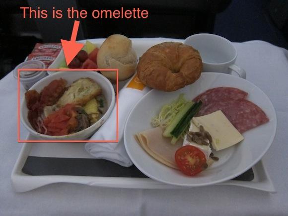 Lufthansa Flight  Food Service