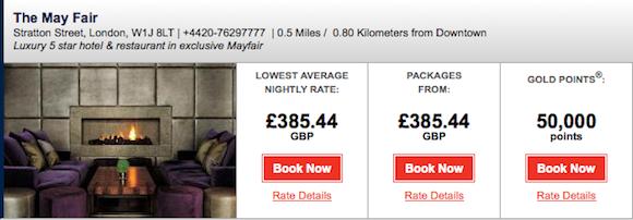 MayFair rates