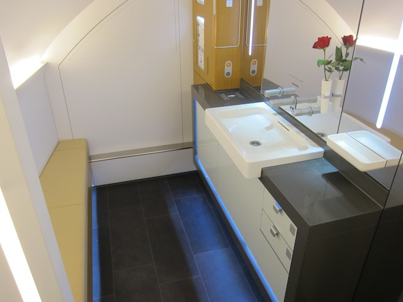Handicap Bathroom Airplane the five nicest airplane bathrooms - one mile at a time