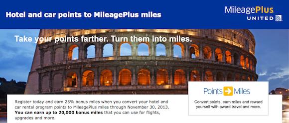 United MileagePlus-Bonus