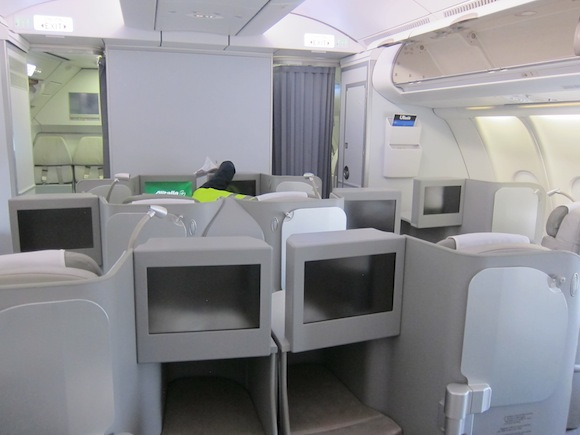 Business class cabin facing front