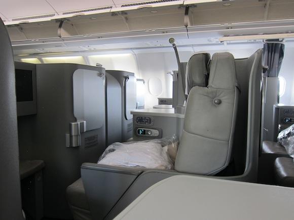 Business cabin window seats