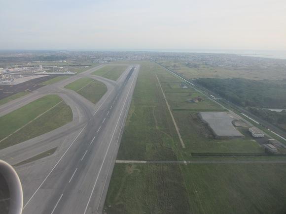 Runway upon takeoff