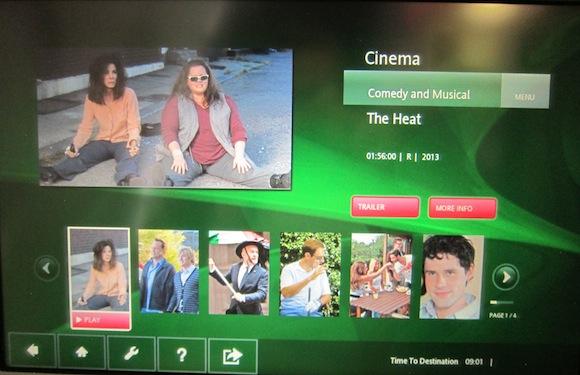 The Heat movie during flight