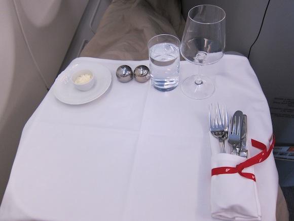Table setup prior to meal