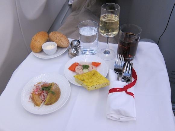 Alitalia appetizer spread