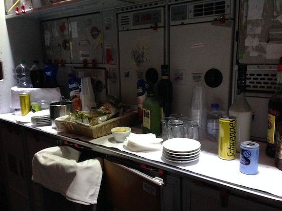 Galley snack setup counter