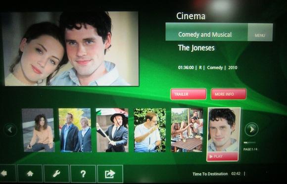 Movie The Joneses on entertainment system