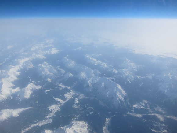 Stunning view over the Alps