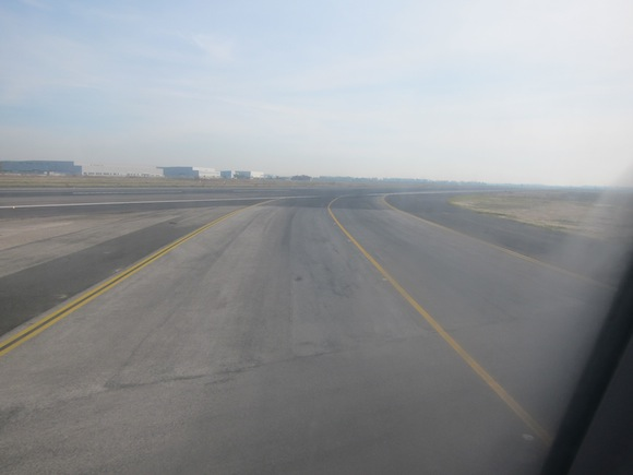Beginning of taxiing into Rome