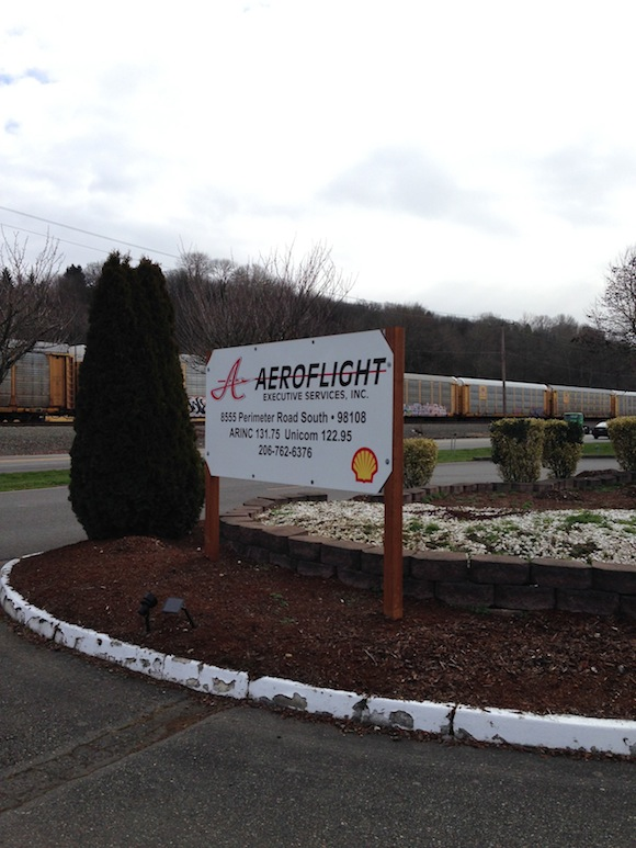 Sign outside of Aeroflight Executive Services