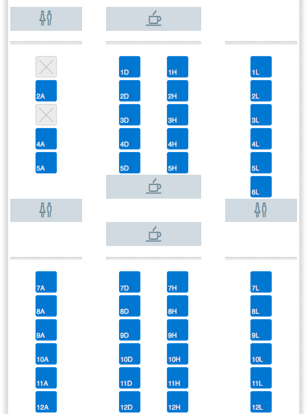 American Airlines Reconfigured 777-200 Seatmap (With New Business ...