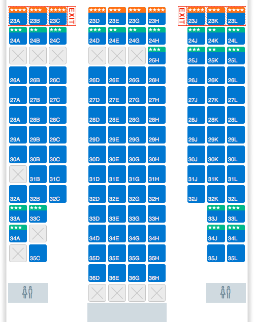 American Airlines Reconfigured Seatmap With New Business - Japan airlines seat map 773