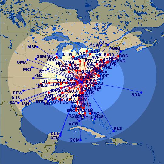 CLT Avios Ranges