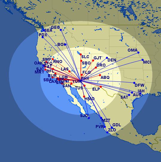 PHX Avios Ranges