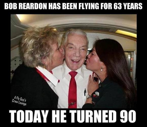 Oldest Active Flight Attendant Turns 90 One Mile At A Time
