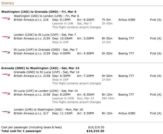 British-Airways-Itinerary