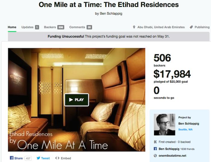 Etihad Residences Kickstarter