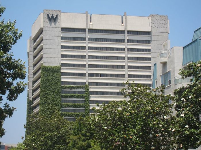 The W Los Angeles Back When It Was Located In Westwood