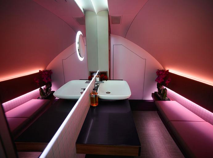 Qatar Airways A380 Bathroom