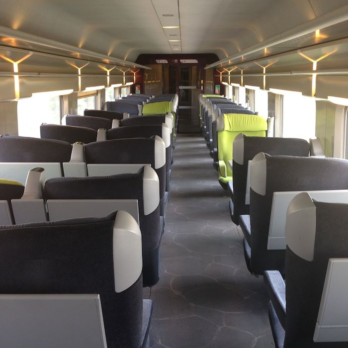 Review Tgv Train Brussels To Paris First Class One Mile
