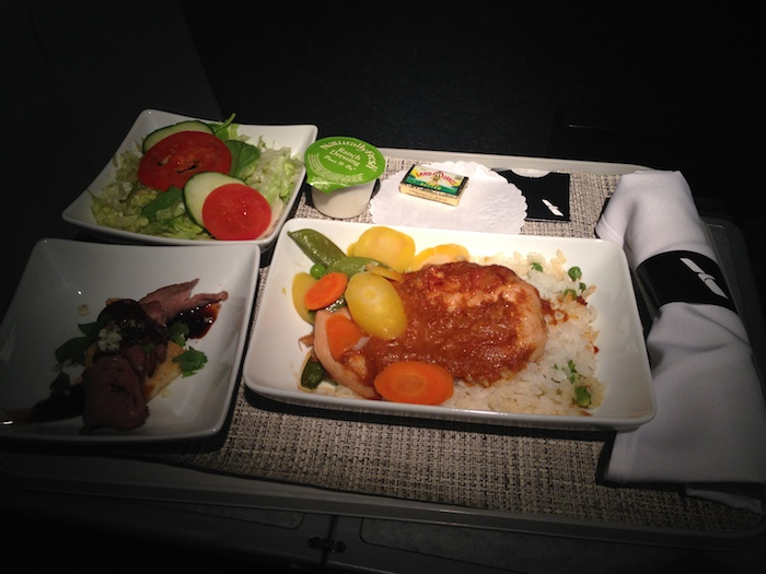 New American Airlines First Class Meal Service One Mile
