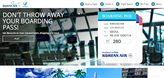 Korean-Air-Website