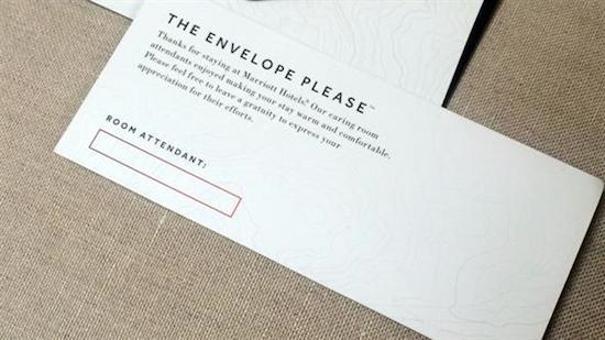 Marriott Tip Envelope