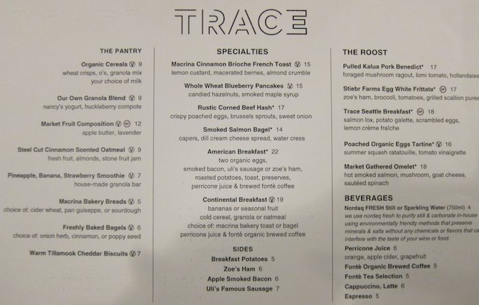 Review w seattle hotel one mile at a time for W hotel in room dining menu