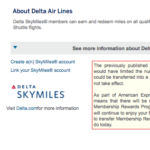 Delta Skymiles Membership Rewards