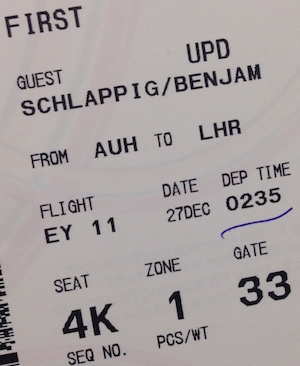 Etihad Boarding Pass