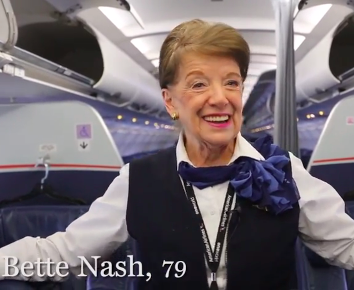 Meet The Most Senior Flight Attendant In The World One