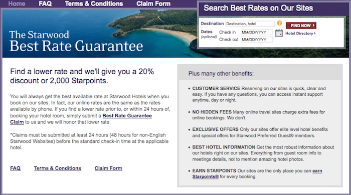 However It Looks Like They Ve Stepped Up Their As Starwood Has Doubled The Of Best Rate Guarantee If You Find A Better Elsewhere
