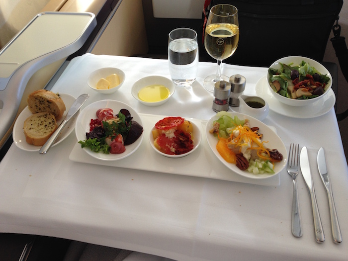 How Much Food Can You Order In First Class? - One Mile at ...