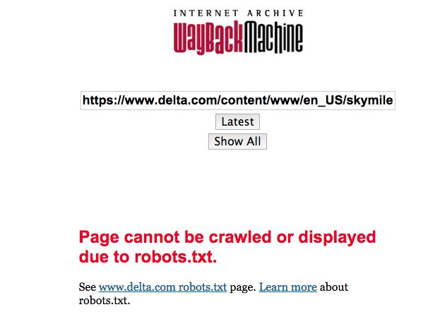 Delta Wayback