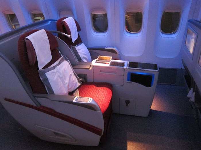 Qatar Airways 777 Business Class 03 One Mile At A Time
