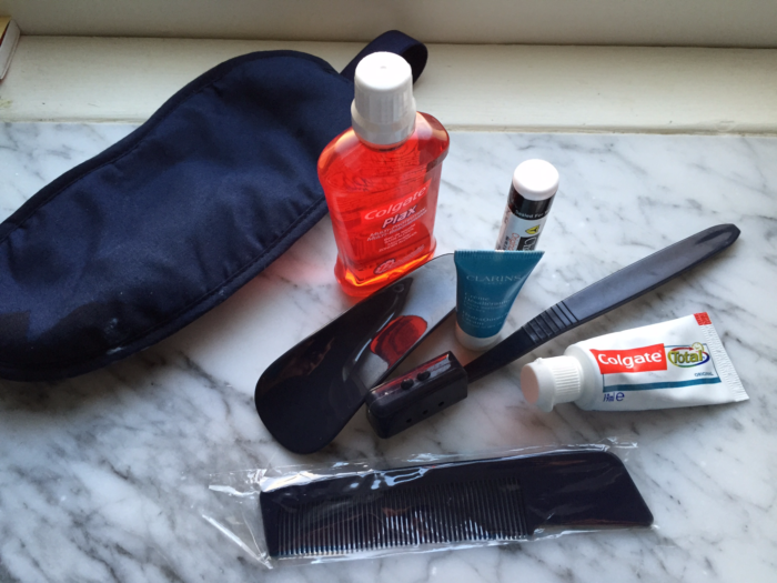 Air France business class amenity kit contents