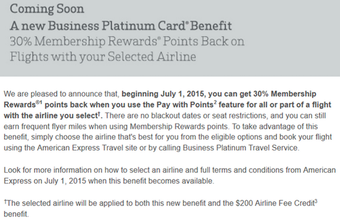Amex Biz Plat Pay With Points