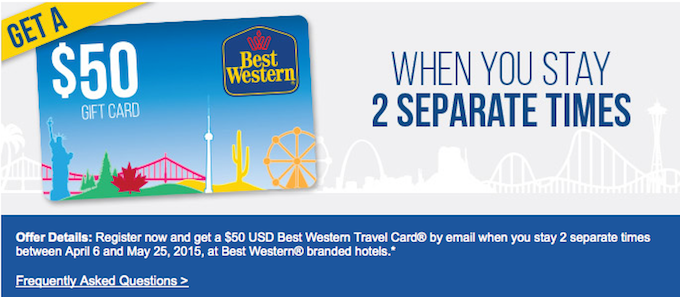 Dec 02,  · Register now and then get a $25 USD Best Western Travel Card® for every 2 separate stays at Best Western® branded hotels between February 8 and May 8, Must register PRIOR to your first eligible stay applied to the promotion.