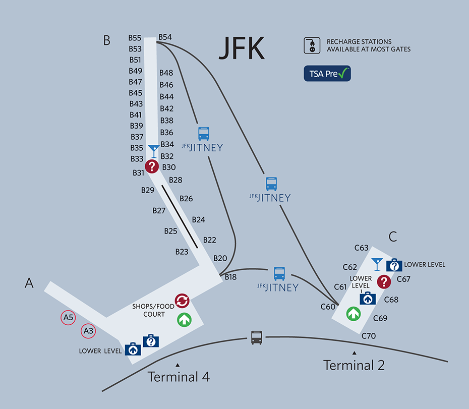 Jfk Terminal 4 Map Review: Delta SkyClub Terminal 4 JFK Airport   One Mile at a Time Jfk Terminal 4 Map