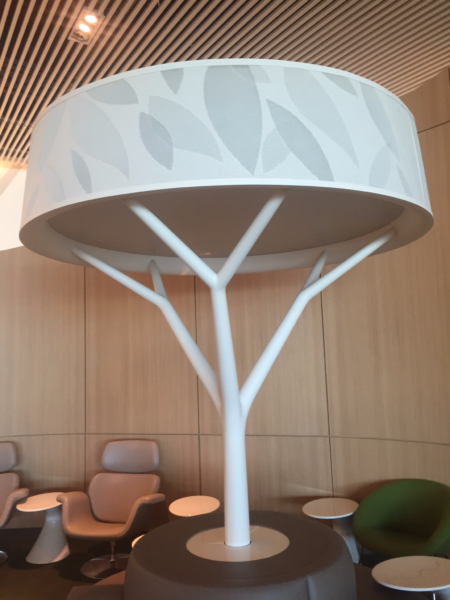 """Air France business class lounge """"landscaping"""""""