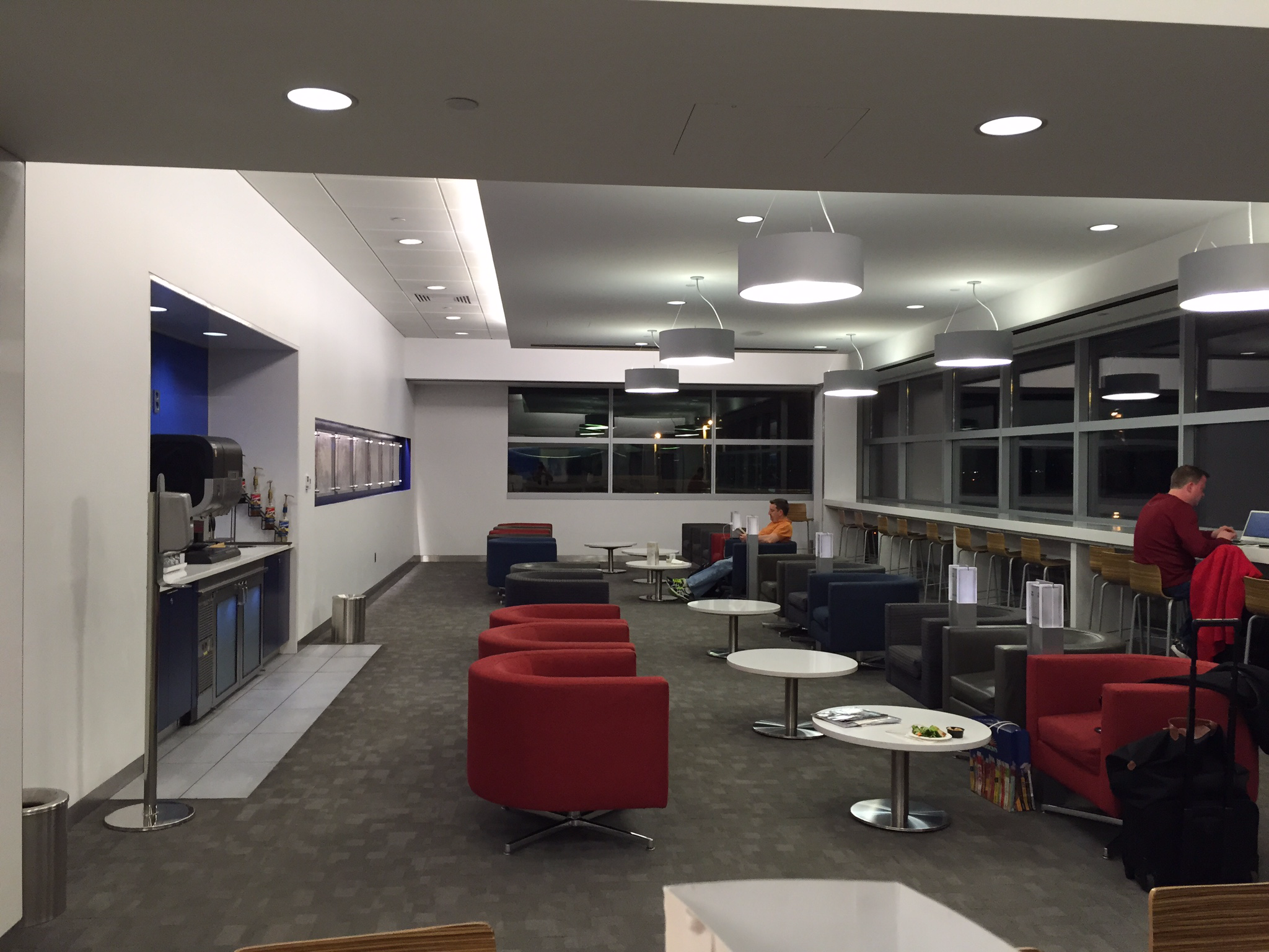 Review delta skyclub terminal 4 jfk airport one mile at for Best airport lounge program