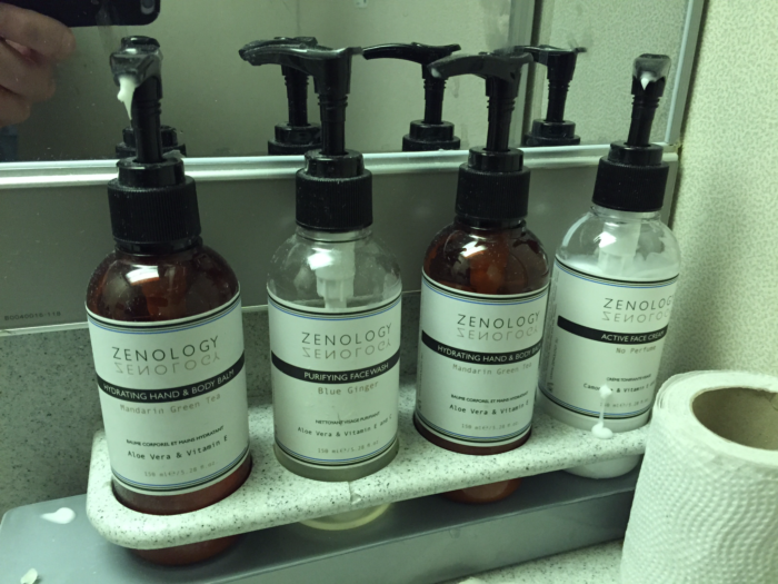 Zenology-branded lavatory amenities