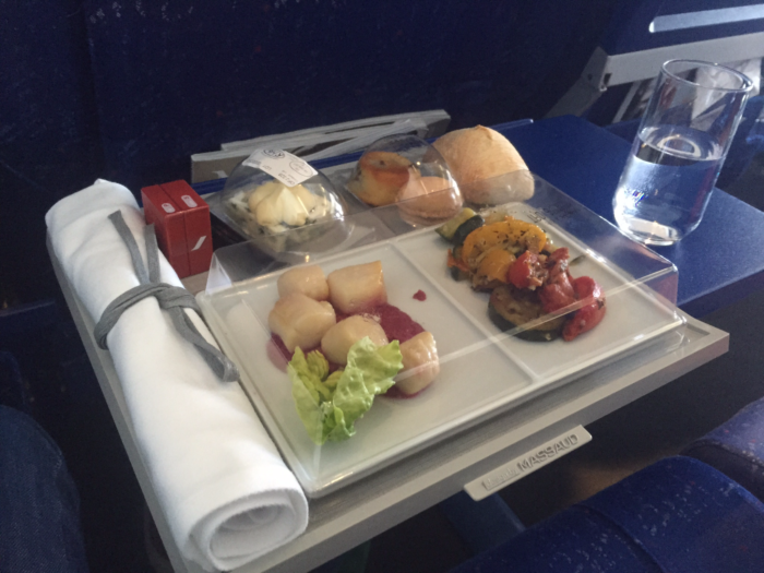 Lunch on Air France intra-Europe