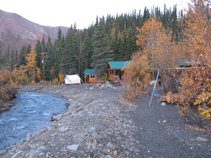 We stayed outside the gate at the Denali Mountain Morning Hostel and Cabins.