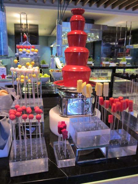 It is expected Pyongyang's new terminal will have a chocolate fountain the color of dissident's blood